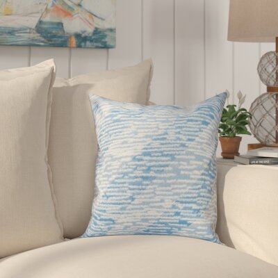 Cedarville Marled Knit Stripe Geometric Print Throw Pillow Size: 26 H x 26 W, Color: Blue