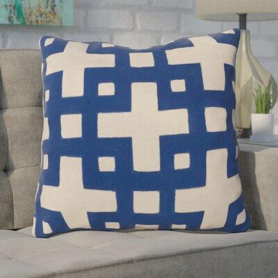 Cotton Throw Pillow Color: Blue/Neutral