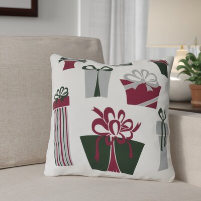 Present Time Throw Pillow Size: 16 H x 16 W, Color: White