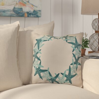 Huong Decorative Holiday Geometric Print Throw Pillow Size: 18 H x 18 W, Color: Teal