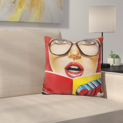 Super Reading Throw Pillow