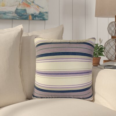 Brahms Striped Cotton Throw Pillow Color: Purple