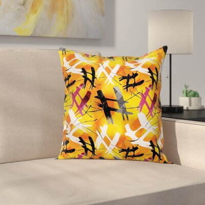 Modern Removable Digital Pillow Cover Size: 16 x 16