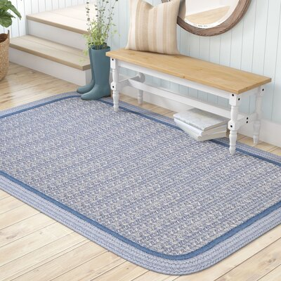 Browdy Banded Sunrise Blue Area Rug Rug Size: Rectangle 5 x 8