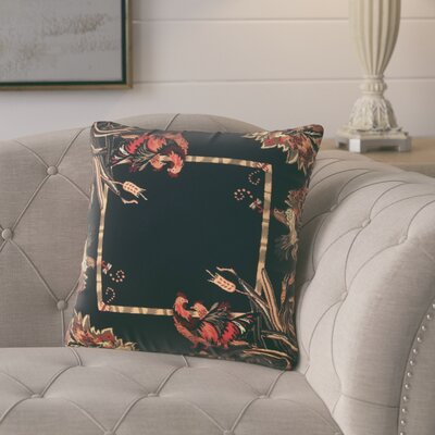 Andersonville Throw Pillow Color: Black/Burgundy
