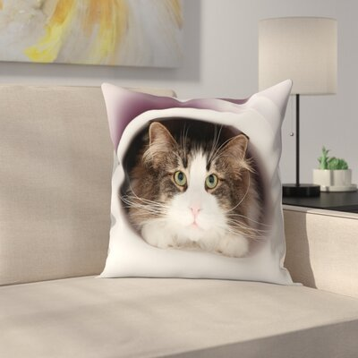 Maja Hrnjak Cat Throw Pillow Size: 20 x 20