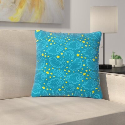 Billington Starry and Cloudy Night Outdoor Throw Pillow Size: 18 H x 18 W x 5 D