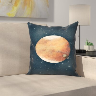The Planet Throw Pillow Size: 14 x 14