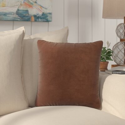Dugan Soft Suede Throw Pillows Color: Coffee