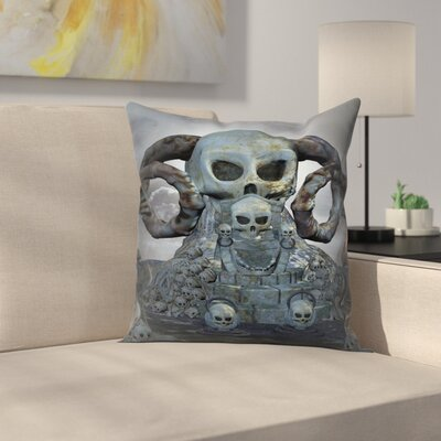 Modern Skull Pillow Cover Size: 24 x 24
