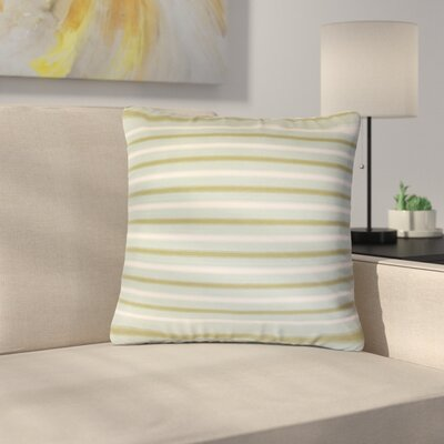 Sumrall Striped Cotton Throw Pillow Color: Blue/Green