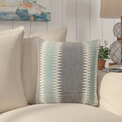 Ivydale Stripes Throw Pillow Color: Glacier