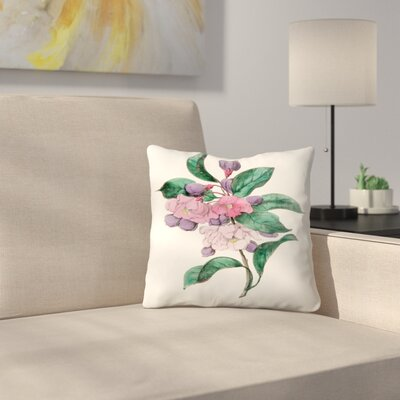 American Flora Chinese Pear Throw Pillow Size: 18 x 18