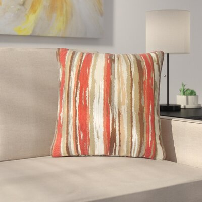 Spero Throw Pillow Color: Lava, Size: 18 x 18