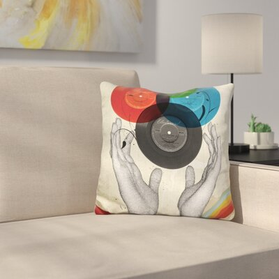 Cmyk the Creation of Retro Throw Pillow