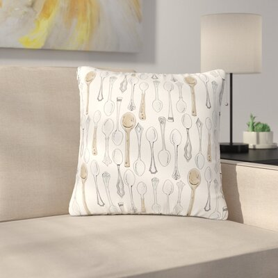 Stephanie Vaeth Spoons Outdoor Throw Pillow Size: 16 H x 16 W x 5 D