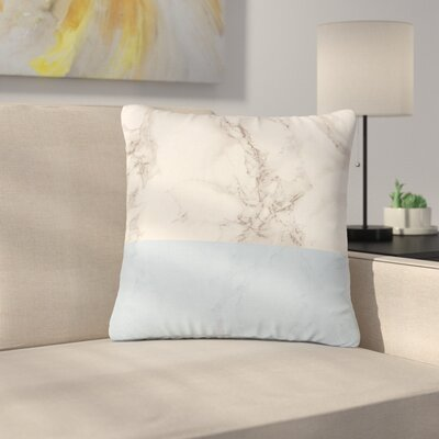 Suzanne Carter Marble and Block Modern Outdoor Throw Pillow Size: 16 H x 16 W x 5 D, Color: Blue