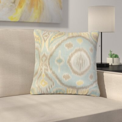 Rowsey Ikat Linen Throw Pillow Color: Light Blue