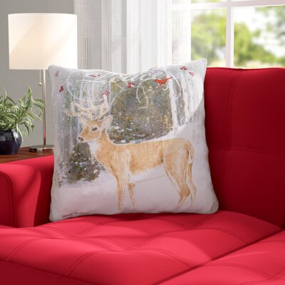 Leesburg Peace Deer Throw Pillow