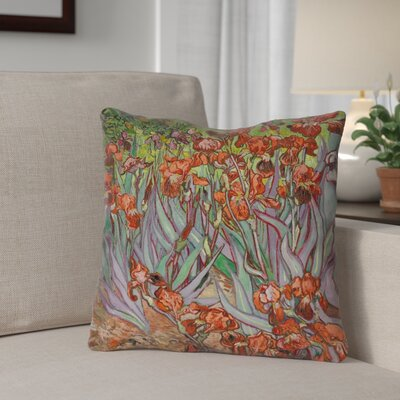 Morley Irises Indoor/Outdoor Throw Pillow Color: Purple, Size: 18 x 18