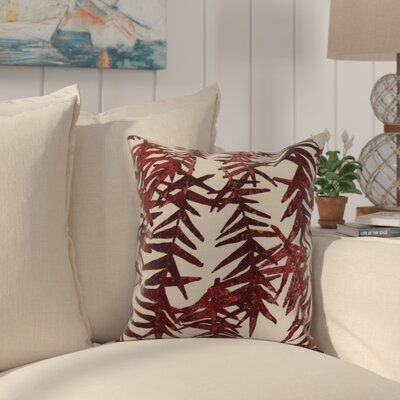 Shetland Throw Pillow Color: Red, Size: 18 x 18