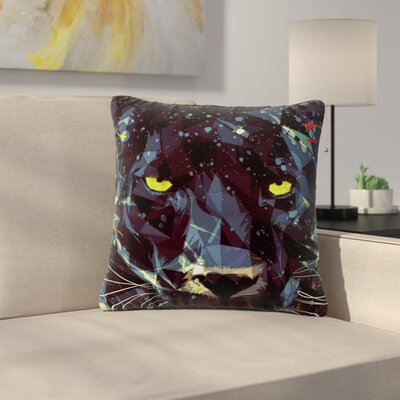 Mayka Ienova Le Noir Parduc Animals Outdoor Throw Pillow Size: 18 H x 18 W x 5 D