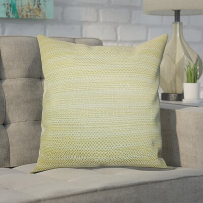 Kardos Throw Pillow Color: Green, Size: 18x18