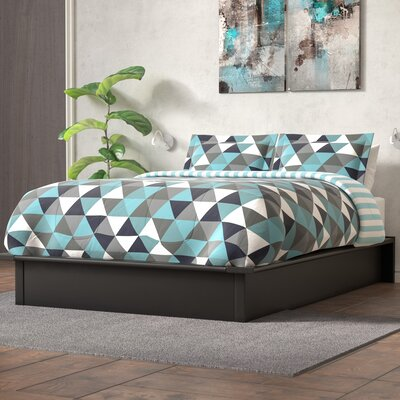 Armani Upholstered Platform Bed Size: Queen, Color: Black