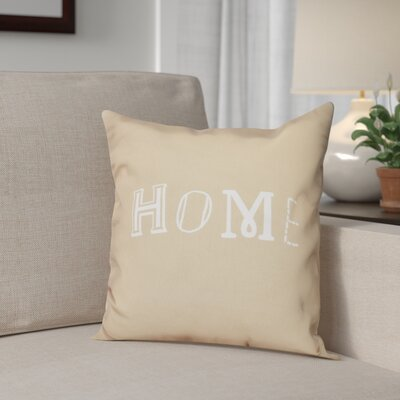 Scotland Home Throw Pillow Size: 18 H x 18 W, Color: Taupe