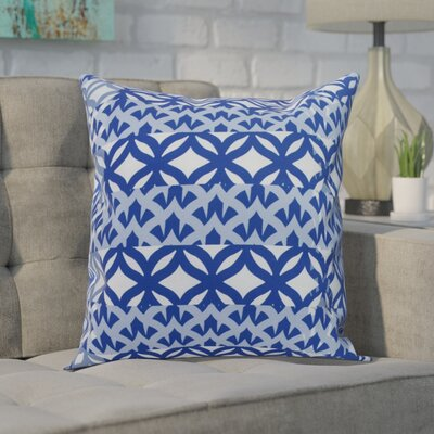 Carmean Throw Pillow Color: Royal Blue, Size: 18 x 18