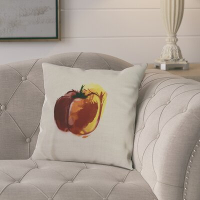 Laymon Pepper Throw Pillow Color: Maroon, Size: 26 x 26