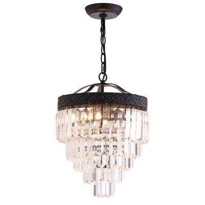 Kingsdown 2-Light Crystal Chandelier Finish: Bronze / Clear