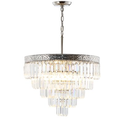 Kingsdown 4-Light Crystal Chandelier Finish: Polished Nickel/ Clear