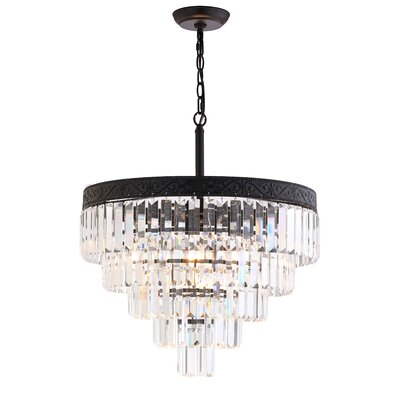 Kingsdown 4-Light Crystal Chandelier Finish: Bronze / Clear