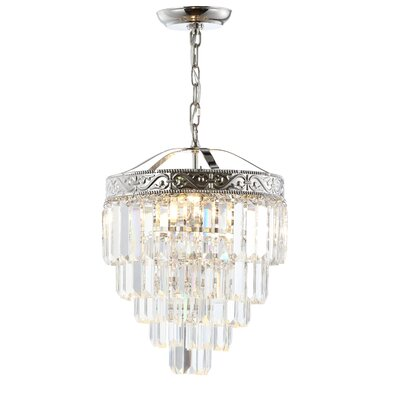Kingsdown 2-Light Crystal Chandelier Finish: Polished Nickel/Clear