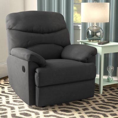 Millicent Chaise Manual Wall Hugger Recliner Upholstery: Gray