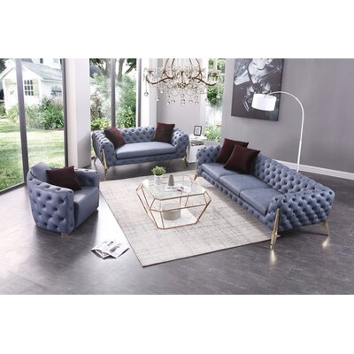 Lanford 3 Piece Living Room Set