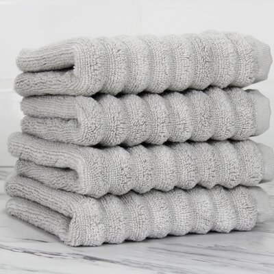 Ringgold Zero Twist Washcloth Color: Pebble Gray