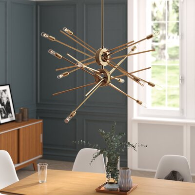 Byler 12-Light Sputnik Chandelier Finish: Matte Gold