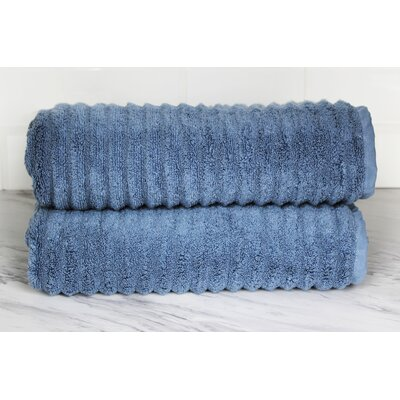 Ringgold Zero Twist Bath Towel Color: Slate Blue