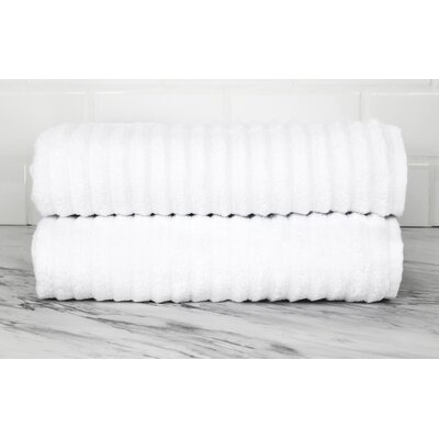 Ringgold Zero Twist Bath Towel Color: White