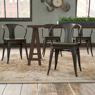 Ashlyn Dining Chair Color: Black