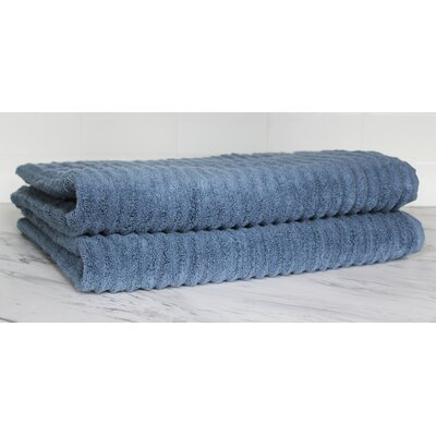 Ringgold Zero Twist Bath Sheet Color: Slate Blue