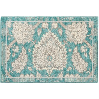 Great Expectation Teal Area Rug