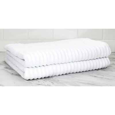 Ringgold Zero Twist Bath Sheet Color: White
