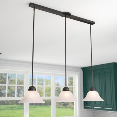 Engelbrecht 3-Light Kitchen Island Pendant Finish: Oil Burnished Bronze