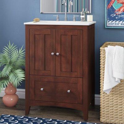 Artic 30 Single Bathroom Vanity Set Base Finish: Walnut, Faucet Mount: Single Hole
