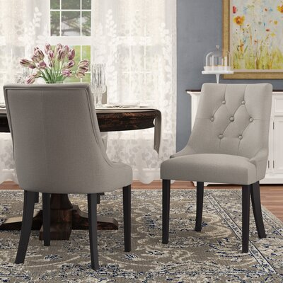 Wilkinson Upholstered Dining Chair Color: Steel Gray