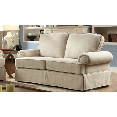 Winkleman Transitional Loveseat Upholstery: Beige