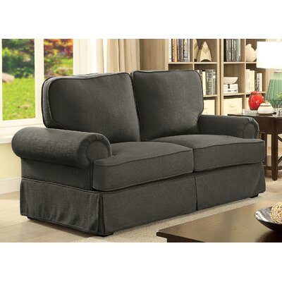 Winkleman Transitional Loveseat Upholstery: Gray